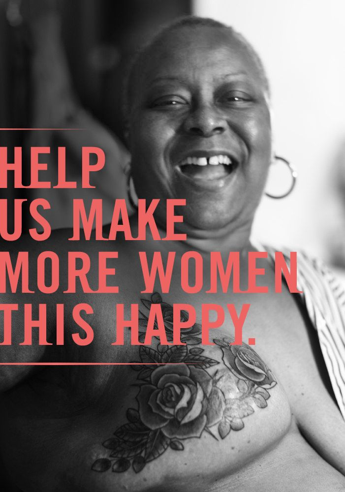 Your contribution will help us fund more mastectomy tattoos. Donate now:  http:/
