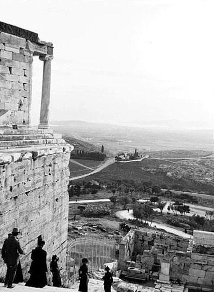 1911.~  Θέα από την Ακρόπολη. (Lucien Roy, Αμερικάνος. 1845 ~ 1929).