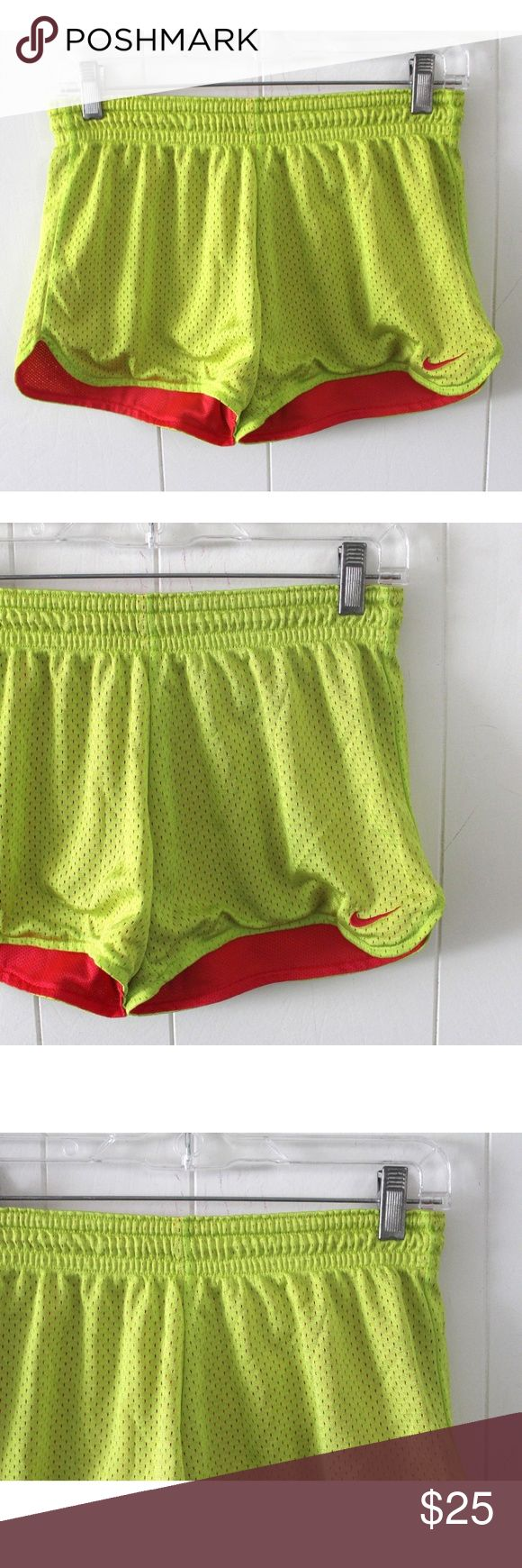 "Nike Neon Running Shorts Shorts - Size Small Nike neon running shorts shorts. Size small. No holes, tears, or frays. Pre-owned but in great condition.   Measurements: size: small waist: 27"" hip: 34"" front rise: 8"" back rise: 10"" inseam: 2"" outseam: 11"" leg opening: 11"" no pockets  Such a cute pair of jeans for your wardrobe! Nike Shorts"