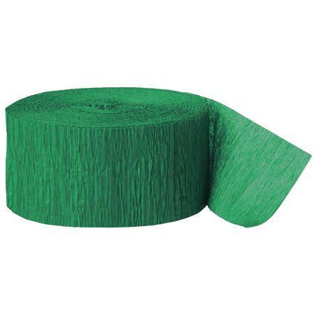 Hochwertiges Krepppapier in Grün zum Basteln oder als Dekoration, z.B als Girlande.  Durch die krause Oberfläche des Papiers erhält die Dekoration einen besonderen Charme. Sie erhalten 2 Rollen mit jeweils 10 meter Länge....
