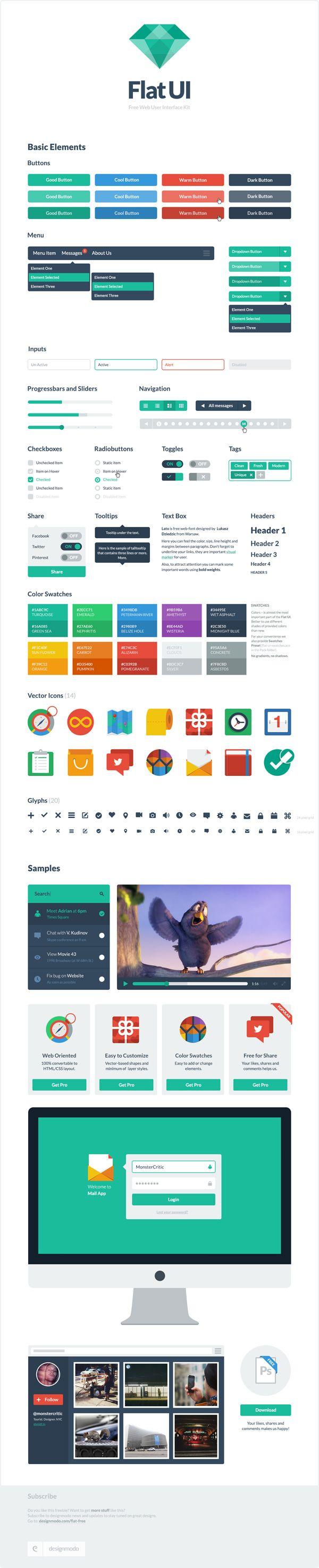 Flat UI Free – PSD User Interface Kit    Source: http://designmodo.com/flat-free/#ixzz2OFvNu700