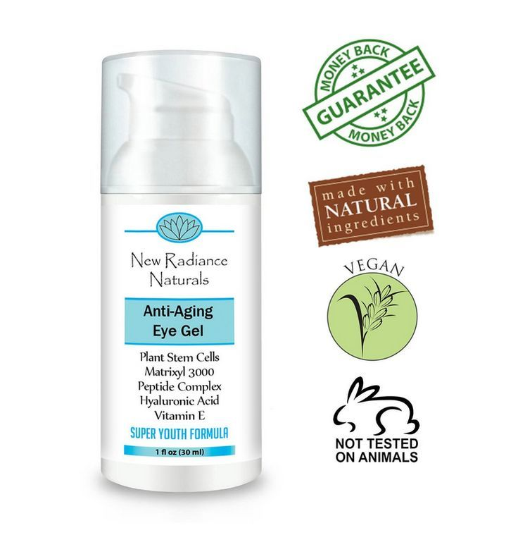 New Radiance Naturals  GUARANTEED Best Eye Gel Cream With Plant Stem Cells  Ma