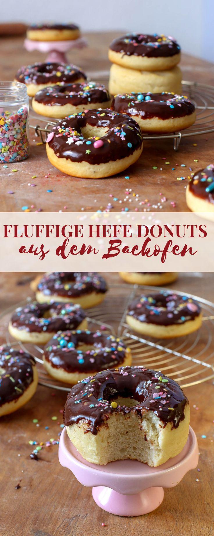 Wie wäre es mit ein paar ultra fluffigen Donuts aus dem Backofen mit köstliche…