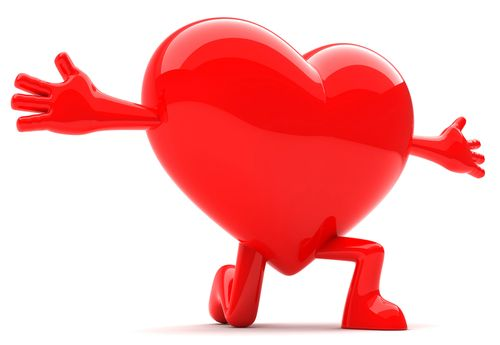 This delightful heart is open arms for someone special.