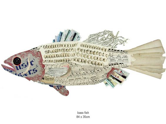 Another paper collage fish. By Peter Clark.