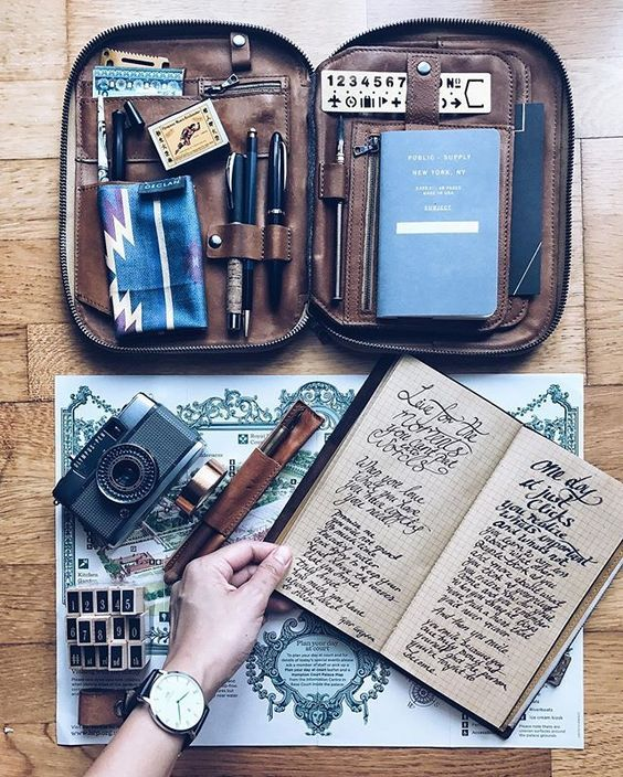 ✄ Paper Room ✄ ~ I looove that stationery case with it's grown-up tan colour, very 'explorer' style!