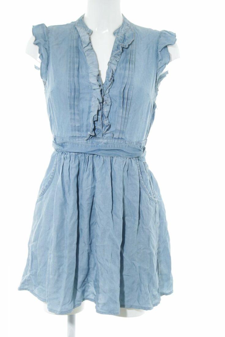 h&m minikleid blau casual-look damen gr. de 36 kleid dress