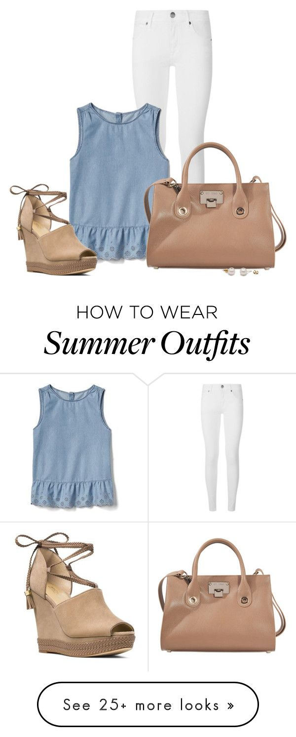 """""""Simple summer outfit"""" by kingsamuel on Polyvore featuring Burberry, Gap, Jimmy Choo and MICHAEL Michael Kors"""