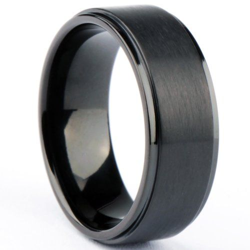 Black Brushed Grooved Titanium Rings for Men Him and Her Wedding Band Forever and Always Comfort Fit 8mm (13) SOMEN TUNGSTEN,http://www.amazon.com/dp/B00BM21PN6/ref=cm_sw_r_pi_dp_cHRvsb0PY8CYK3K1