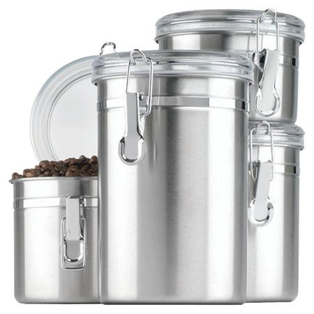 Found it at Wayfair - 4 Piece Canister Set in Stainless Steel