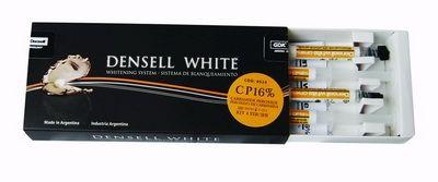 WHITE CP16% KIT HOME 4 JERINGAS • x 2 ml cada una • Peróxido de carbamida • Tratamiento nocturno 6/8 horas, 1 semana, diurno 3 horas durante 2 semanas - Cod 6529
