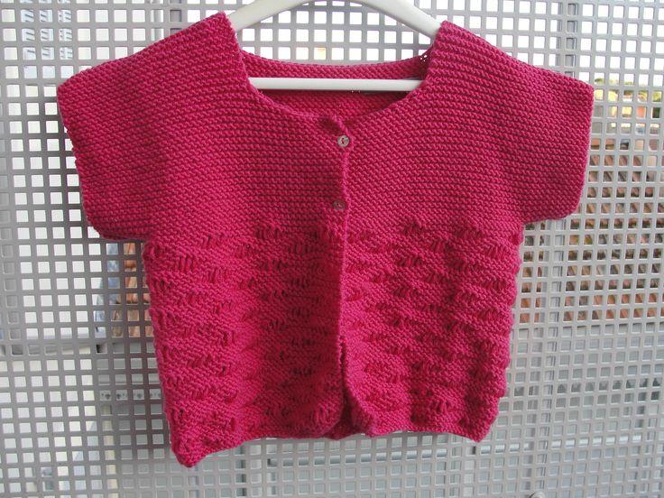 modèle tricot gratuit gilet fille 4 ans