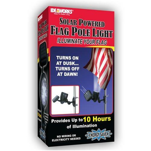 LED Solar Powered Portable Flag Pole Light Ideaworks Automatic Flashlight New | eBay (Kirsten & JoeBob)