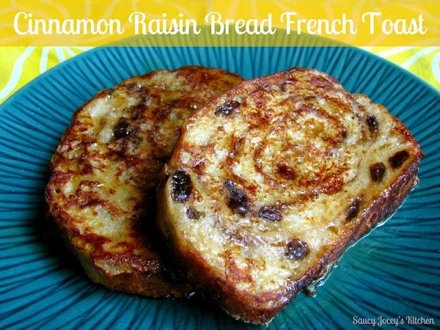 Cinnamon Raisin Bread French Toast! Yum.