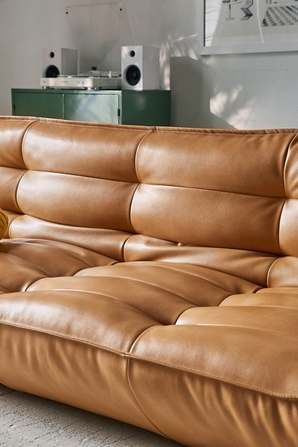 Outstanding Urban Outfitters Greta Recycled Leather Xl Sleeper Sofa In Creativecarmelina Interior Chair Design Creativecarmelinacom