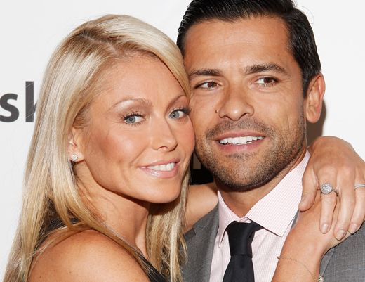 """""""I found out in the National Enquirer that he was once a go-go boy, a male stripper. He was. A lot of hot guys in Hollywood have done that."""" -- Kelly Ripa: Husband Mark Consuelos was a stripper after college"""