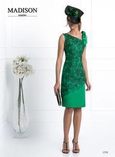 Vestido de fiesta corto verde