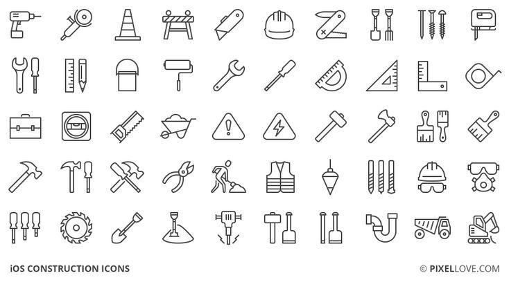 iOS construction icons
