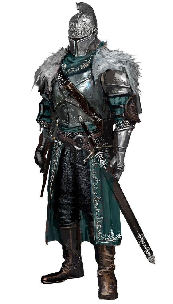 Dark Souls II Character Art & Concept Artwork Knights
