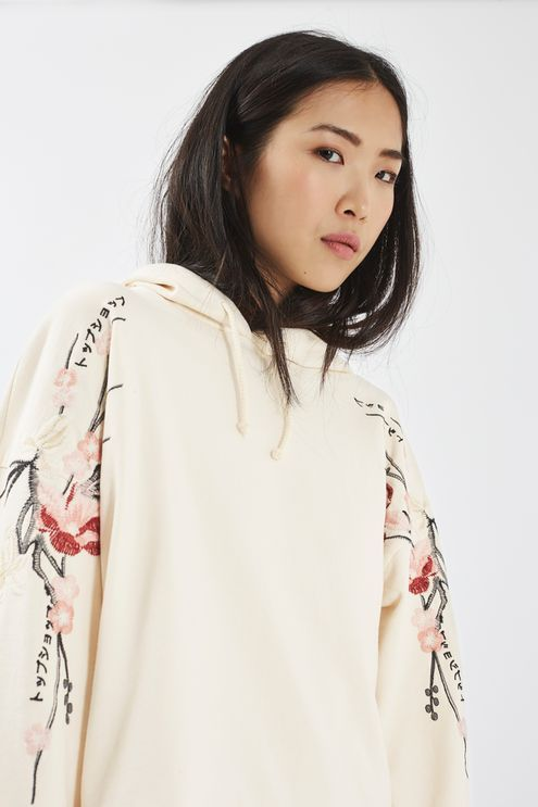 Embroidered Hoodie - Tops - Clothing - Topshop USA