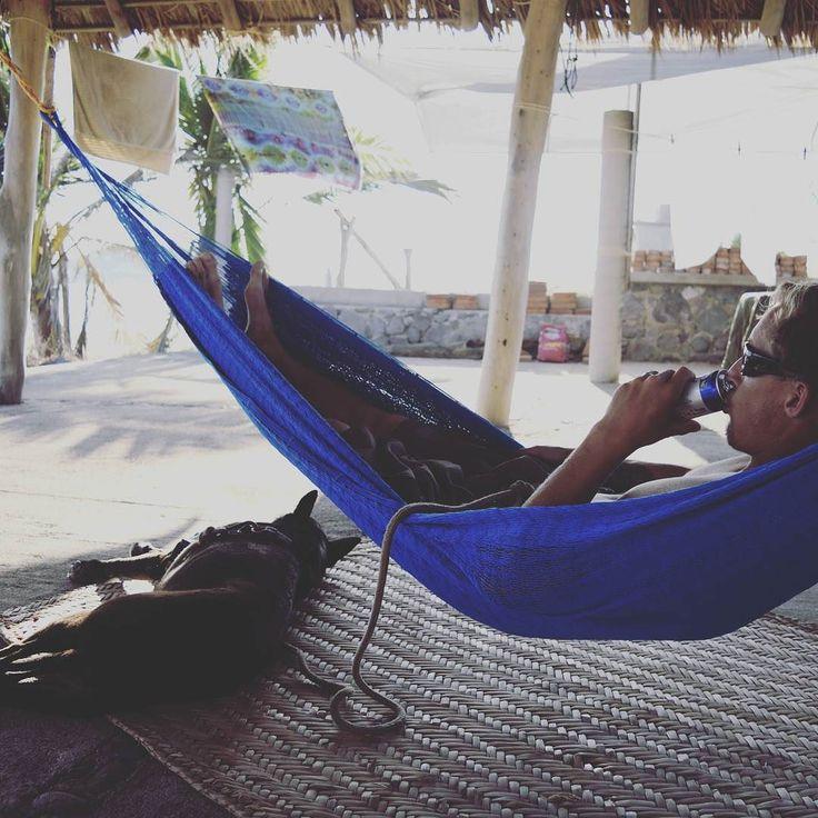 Living the hammock life in Tenacatita.  #lifeintrillium #livelifedifferently #overlanding #panamerican #livingoffgrid #mexicanpitty #pittykelpie #trailerlife #hammocklife by @lifeintrillium