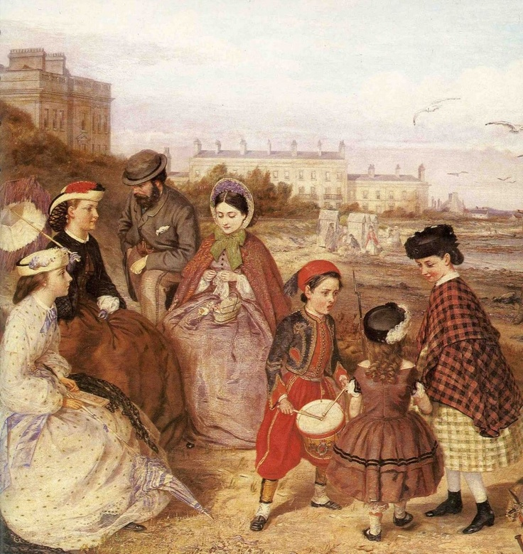 A Victorian Family at the Seaside (detail) by Charles Wynne Nicholls, 1860s