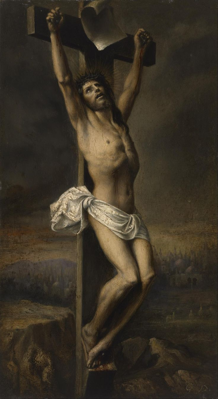 Christ on the Cross / Cristo crucificado // 19th c. // Gustave Doré // © The Museum of Fine Arts, Houston // #Jesus #crucifixion #Golgotha