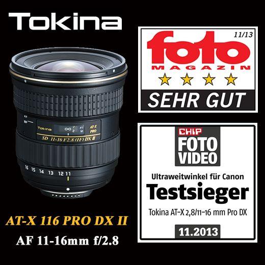 """Auch das beliebte und lichtstarke Tokina AT-X 116 PRO DX II, räumt zwei Auszeichnungen ab!   Ein """"Sehr gut"""" im Objektivtest fotoMAGAZIN Heft Nr. 11/13 und """"Testsieger"""" im CHIP FOTO-VIDEO Test """"Ultraweitwinkel für Canon"""".  http://www.hapa-team.de/produkte/AT-X+116+PRO+DX+II  #tokina #lens #objektiv #fotografie"""