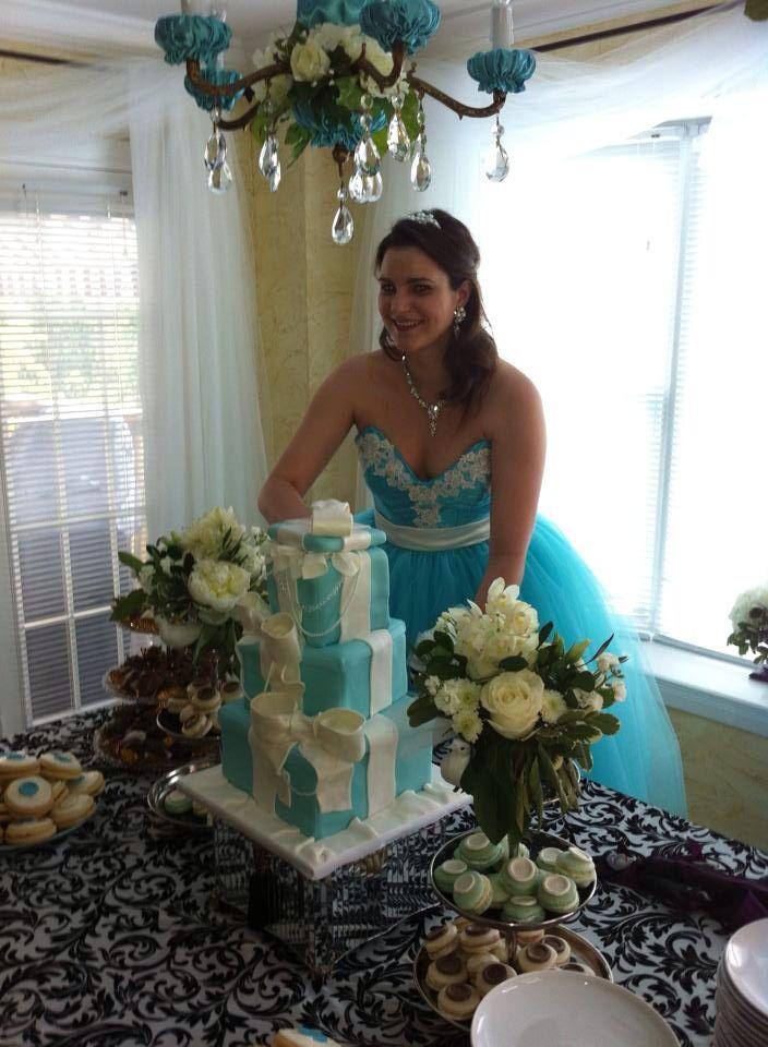 Breakfast at Tiffany's Bridal Shower Cake   Tiffany themed ...  Tiffany Bridal Shower Cakes