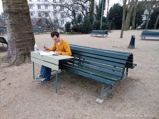 Greffe de banc public jo lle bourquin design extension - Mobilier urbain jardin public la rochelle ...