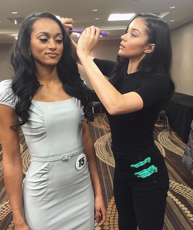 Next month is the Miss DC USA pageant! 😱 @bbbybeholderel is looking for professional hairstylists/MUA's to join her Pageant Glam Squad. If interested contact Eny via email Info@beholderel.com #missdcusa #missusa #teamkaramcullough