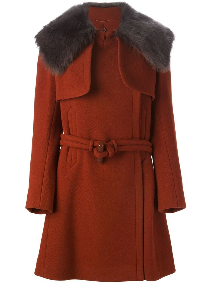 Chloé Detachable Fur Collar Coat - Al Duca D'aosta - Farfetch.com