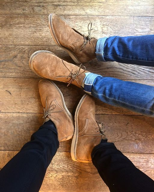 Instagram media by redwingamsterdam - We at the Red Wing Shoe Store Amsterdam @mitchdevries and @melchiorswaanswijk are already wearing the 3321 Weekender Chukka in Hawthorne Muleskinner for over a month now. They are really comfortable and lightweight. Are you ready for a lightweight pair of Red Wing Shoes? | www.redwingamsterdam.com |