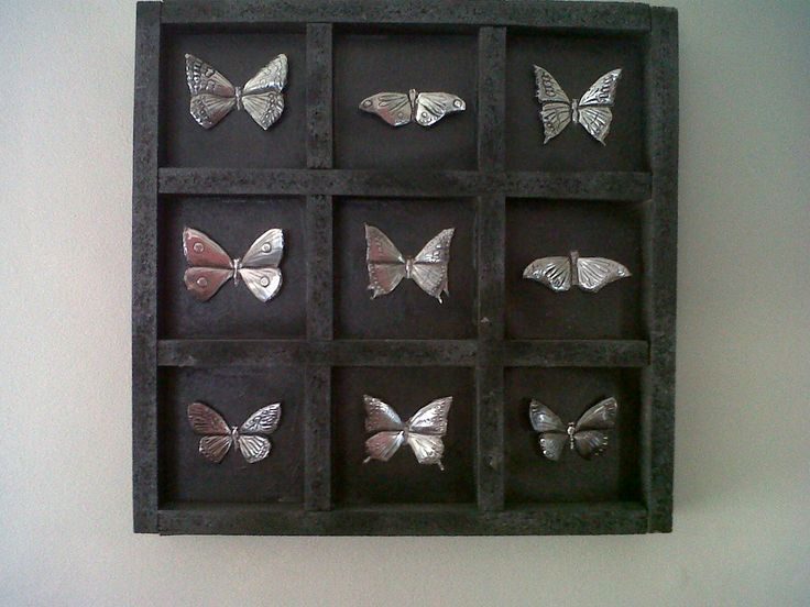 Collection of pewtered butterflies