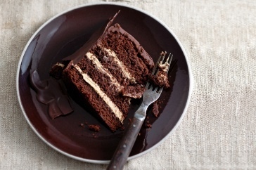 Crack through the chocolate collar then slice a knife into four layers of moist sponge and coffee cream. With dark chocolate, vanilla and Baileys, it's hard to resist this impressive cake.: Recipe, Dark Chocolate, Mocha Choc, Impressive Cake, Chocolate Collar, Heavenly Mocha, Knife, Bliss Cake