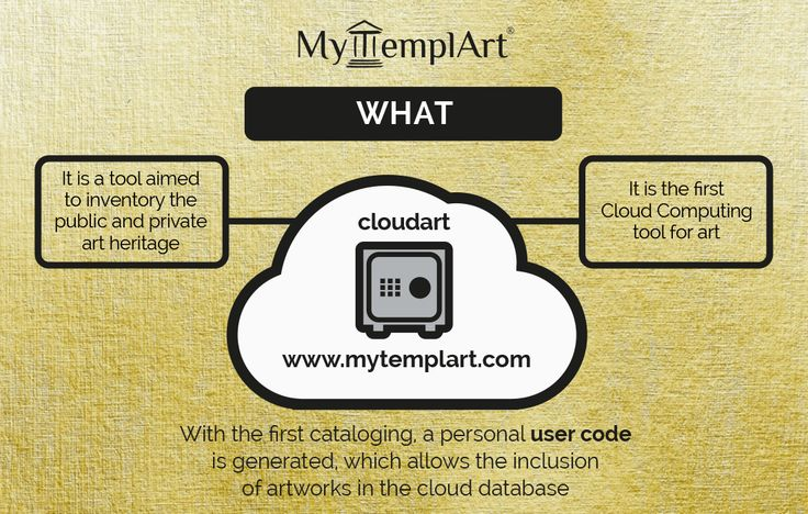 It is the first tool allowing cataloging of every kind of artwork (both public and private). When the User performs his first cataloging, he receives his own code, unique and unrepeatable, which grants access to a reserved area aimed to submit artworks in a cloud database. Every User can share his own artworks with the other platform users, only if he wants. Learn More on www.mytemplart.com #art #color #paiting #artist
