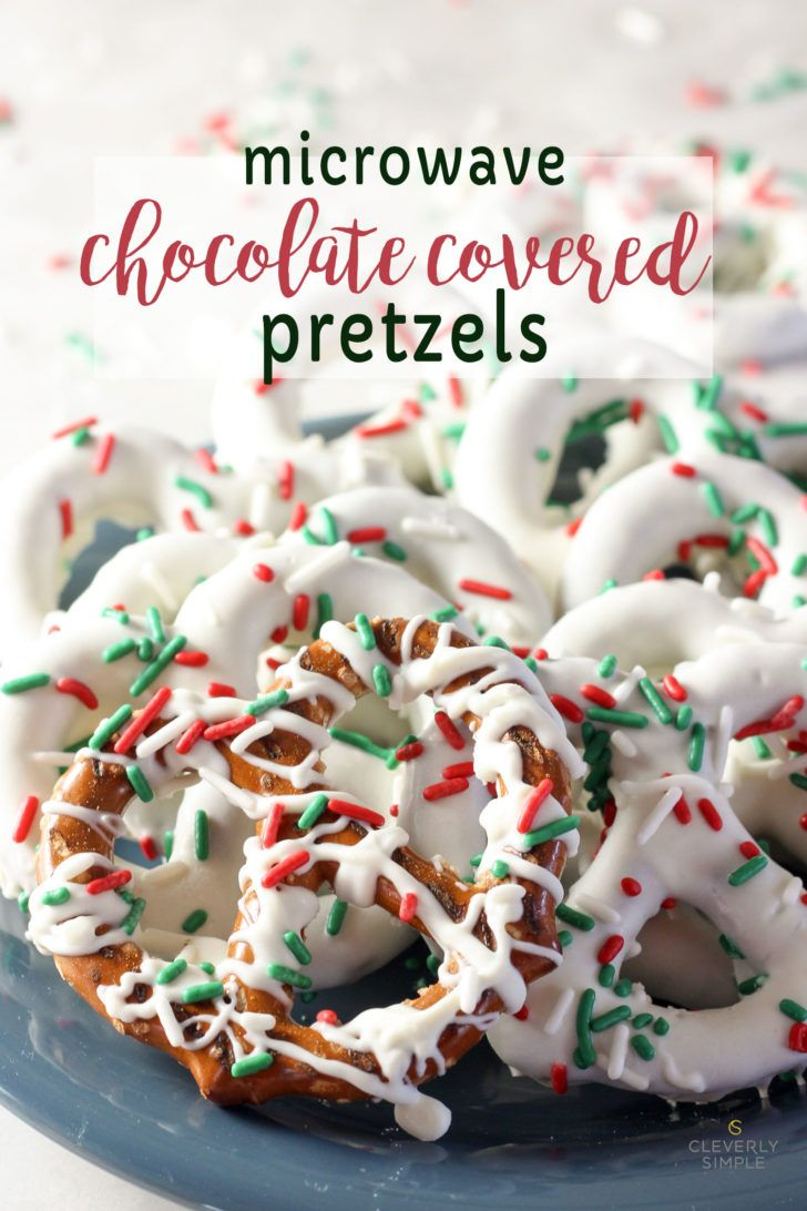 Make chocolate covered pretzels by melting the chocolate in the microwave!  It could not be an easier or faster treat for Christmas!  Using Snyder's pretzels and melting chocolate - you are in for a real easy treat!  #christmas  #pretzels #chocolate