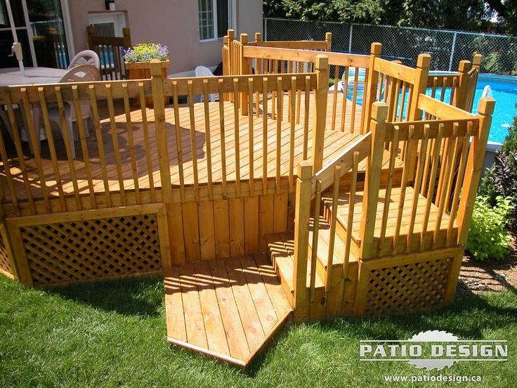 Patio et piscine 019 deck ideas pinterest patio for Construire deck piscine