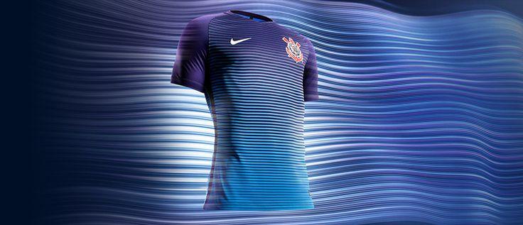 Terceira camisa do Corinthians 2016-2017 Nike Azul abre