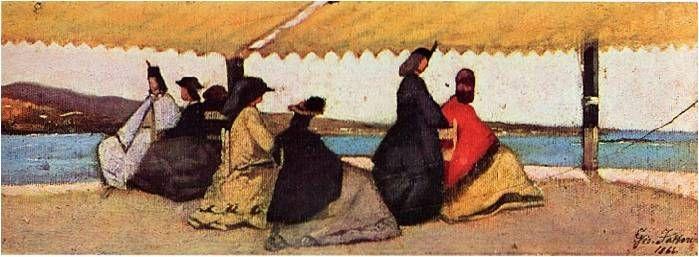 La rotonda di Palmieri ( 1866 ) - Giovanni Fattori