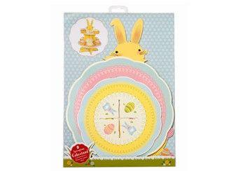 présentoir à gâteaux lapin de Pâques 'Spring Time' talking tables | shop pour enfants Le Petit Zèbre