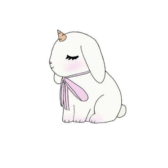 Cute bunnycorn!! in 2020   Bunny art, Art, Art inspiration