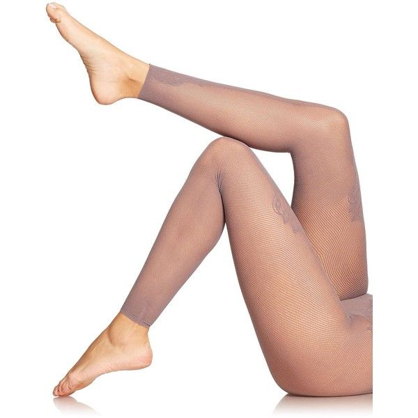 Fogal Derina Footless Fishnet Tights featuring polyvore, fashion, clothing, intimates, hosiery, tights, apparel & accessories, footless pantyhose, footless stockings, print stockings, patterned footless tights and footless tights