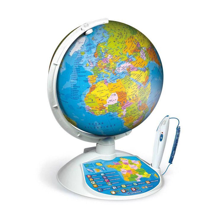 Exploraglobe est un globe terrestre interactif. Du bout de son stylo interactif, l'enfant découvre plus de 13 types d'informations sur les pays du monde. Pour cela il suffit d'approcher la pointe du stylo optique à la surface du globe. Exploraglobe propose également un quiz de plus de 500 questions. Avec ce globe, l'enfant apprend les continents, les pays et les fuseaux horaires. Il connaît leur capitale, superficie, monnaie, population, relief, hymne, langue et leurs principales curiosités.