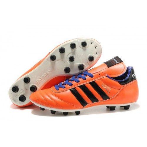Nouveau Chaussures de football Adidas Copa Mundial FG Orange Violet Noir,  Acheter Chaussures de football