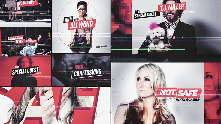 """Commisioned by TROIKA for the for the new Comedy Central show """"NOT SAFE w/ NIKKI GLASER"""". Together we created a clean and glitched out / slightly obscure package to go along with the shows taboo content.Along with full design and animation, we were able…"""