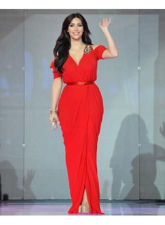 christmas dresses for women Kim Cardashian Sexy Red Prom Dress In Dubai For Sale from 27dress.com #27dress #27dresses #red #sexy #chiffon #Kim #promdress #eveningdress