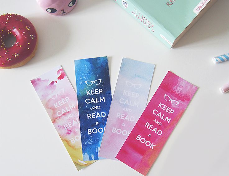 Free printable : marque-page Keep calm and read a book
