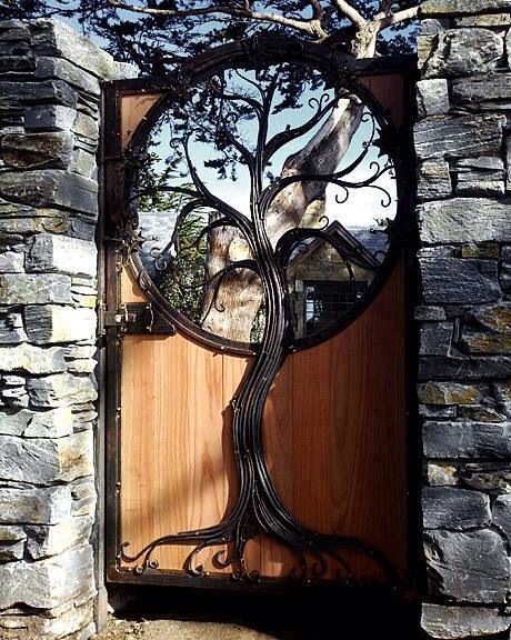 Garden gate. So beautiful tree of life to my secret garden