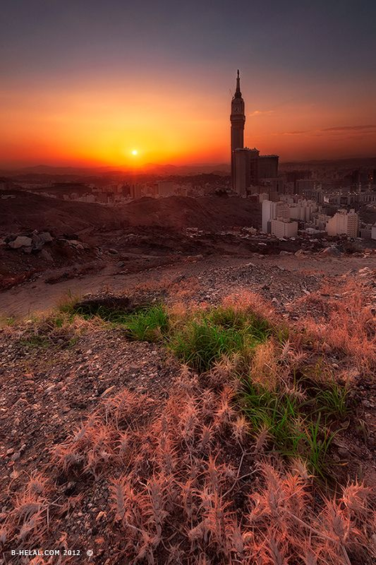 Sunset over Mecca مكه المكرمه | SAUDI ARABIA | Beautiful ...
